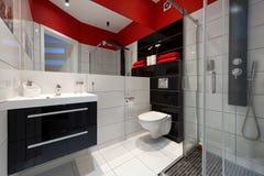 Interior moderno do banheiro Foto de Stock Royalty Free