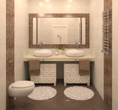 Interior moderno do banheiro. Imagem de Stock