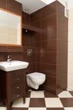 Interior moderno do banheiro Imagem de Stock