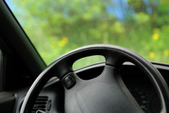 Interior moderno do carro foto de stock royalty free