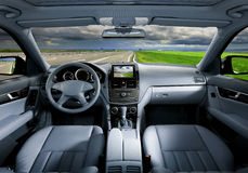 Interior moderno do carro Fotografia de Stock Royalty Free