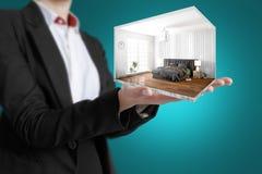 Interior moderno do conceito rendição 3d Fotografia de Stock