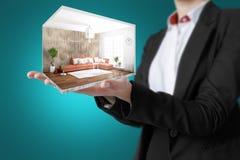 Interior moderno do conceito rendição 3d Imagem de Stock