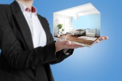 Interior moderno do conceito rendição 3d Foto de Stock