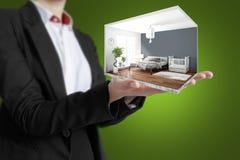 Interior moderno do conceito rendição 3d Imagens de Stock Royalty Free