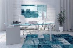 Interior moderno do escritório com mesa Foto de Stock