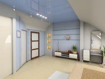 Interior moderno do quarto Imagens de Stock