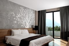 Interior moderno do quarto de hotel Imagens de Stock