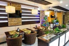 Interior moderno do restaurante Fotografia de Stock