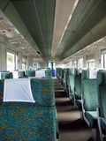 Interior moderno do trem Fotografia de Stock Royalty Free