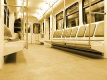 Interior moderno do trem Imagem de Stock Royalty Free