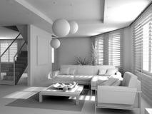 Interior moderno em branco Imagem de Stock Royalty Free