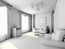 Interior moderno en blanco Fotos de archivo libres de regalías