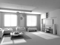 Interior moderno en blanco Foto de archivo libre de regalías