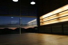 Interior moderno en el amanecer Imagen de archivo libre de regalías