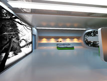 Interior moderno futurista Fotografía de archivo libre de regalías