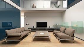 Interior moderno hermoso de la sala de estar Fotos de archivo libres de regalías