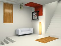 Interior moderno incomun ilustração stock