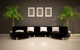 Interior moderno mínimo Foto de Stock Royalty Free