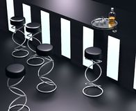 interior moderno simples da barra 3D Foto de Stock
