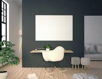Interior moderno, un lugar para el estudio, consistiendo en trabajando el escritorio a Imagenes de archivo