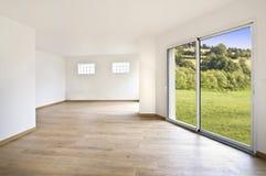Interior moderno vacío de la casa Imágenes de archivo libres de regalías