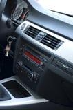 Interior moderno vertical del negro del automóvil imagen de archivo libre de regalías