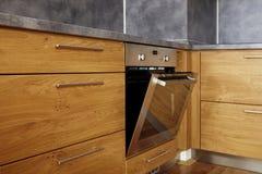 Detalle de la cocina en casa Foto de archivo libre de regalías