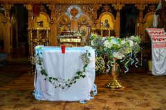 Interior Moldovan orthodox Church royalty free stock images