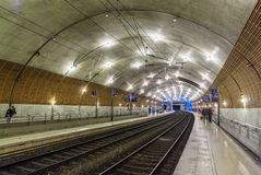 Interior of Monaco railway station Royalty Free Stock Images