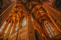 Interior of monastery of Batalha in Portugal Royalty Free Stock Photography