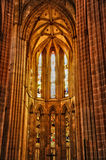 Interior of monastery of Batalha in Portugal Royalty Free Stock Photo