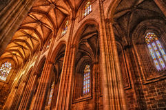 Interior of monastery of Batalha in Portugal Stock Photos