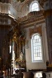 Interior of monastery church Furstenfeld Stock Photography