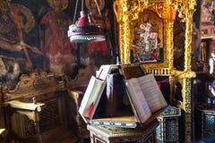 Interior of monastery. Meteora, Greece Stock Photography