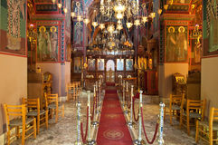 Interior of the Monastery of Panagia Kalyviani on July 25 in Heraklion on Crete, Greece. The Monastery of Stock Image