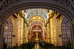 Interior of Monastery of San Francisco in Lima, Peru Royalty Free Stock Photos