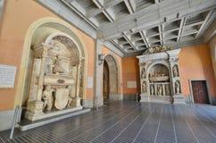 The interior of the monastery of Santa Maria de Montserrat. Spai Stock Images