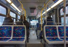 Interior of a montreal bus Stock Image