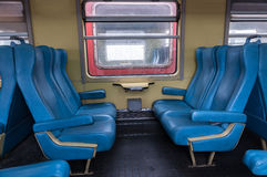 Interior of the moroccan train Royalty Free Stock Photo