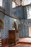 Interior mosaics of   Rustem Pasha Mosque Stock Image