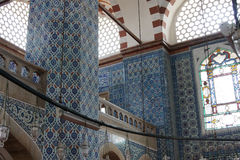 Interior mosaics of   Rustem Pasha Mosque Stock Photos