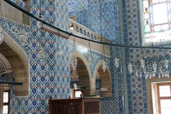 Interior mosaics of   Rustem Pasha Mosque Royalty Free Stock Photo