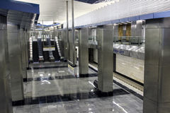 Interior Moscow metro station Stock Images