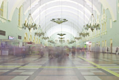 Interior of Moscow railway station. Royalty Free Stock Photos