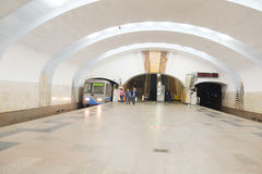 Interior of the Moscow subway staition Royalty Free Stock Image