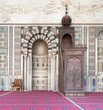 Interior the Mosque of Al Nasir Mohammad Ibn Qalawun Stock Photos