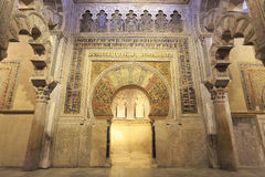Interior of The Mosque-Cathedral of Cordoba, Spain Stock Photos