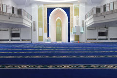 Interior of a mosque Royalty Free Stock Photography