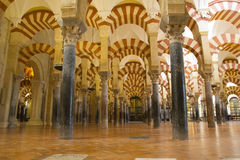 Interior of Mosque,  Cordoba,Andalusia,  Spain Stock Photos